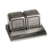 Icon Action Dice-Warner University Stacked Engraved