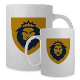 Full Color White Mug 15oz-Lion Head Shield