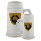 Full Color Decorative Ceramic Mug 22oz-Lion Head Shield