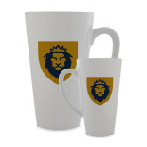 Full Color Latte Mug 17oz-Lion Head Shield