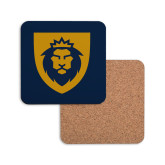 Hardboard Coaster w/Cork Backing-Lion Head Shield