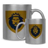 Full Color Silver Metallic Mug 11oz-Lion Head Shield