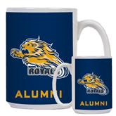 Alumni Full Color White Mug 15oz-Warner Royals w/ Lion