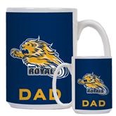 Dad Full Color White Mug 15oz-Warner Royals w/ Lion