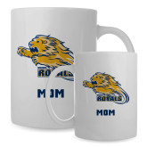 Mom Full Color White Mug 15oz-Warner Royals w/ Lion