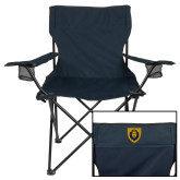Deluxe Navy Captains Chair-Lion Head Shield