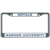 Metal License Plate Frame in Black-Warner