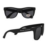 Black Sunglasses-Warner University Flat Wordmark