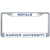 Metal License Plate Frame in Chrome-Warner