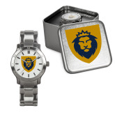 Mens Stainless Steel Fashion Watch-Lion Head Shield