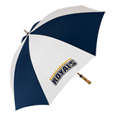 62 Inch Navy/White Umbrella-Arched Warner University Royals