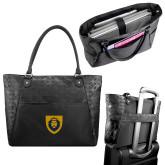 Sophia Checkpoint Friendly Black Compu Tote-Lion Head Shield