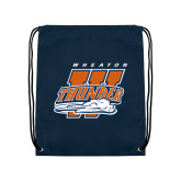 Navy Drawstring Backpack-Primary Athletics Mark