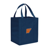 Non Woven Navy Grocery Tote-W
