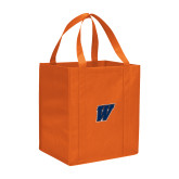 Non Woven Orange Grocery Tote-W