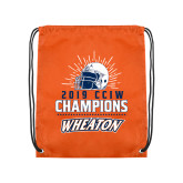 Orange Drawstring Backpack-2019 CCIW Football Champions