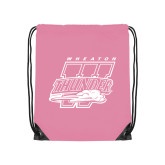 Light Pink Drawstring Backpack-Primary Athletics Mark