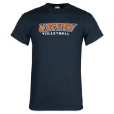 Navy T Shirt-Wheaton Volleyball