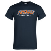Navy T Shirt-Thunder Volleyball