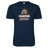 Next Level SoftStyle Navy T Shirt-2019 CCIW Football Champions