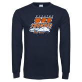 Navy Long Sleeve T Shirt-Primary Athletics Mark