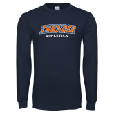 Navy Long Sleeve T Shirt-Thunder Athletics