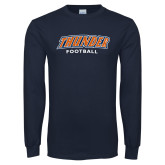 Navy Long Sleeve T Shirt-Thunder Football