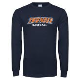 Navy Long Sleeve T Shirt-Thunder Baseball