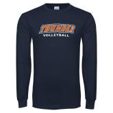 Navy Long Sleeve T Shirt-Thunder Volleyball