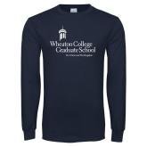 Navy Long Sleeve T Shirt-Graduate School