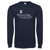 Navy Long Sleeve T Shirt-Conservatory of Music