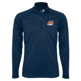 Syntrel Navy Interlock 1/4 Zip-Primary Athletics Mark