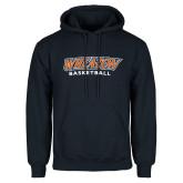 Navy Fleece Hoodie-Wheaton Basketball