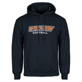 Navy Fleece Hoodie-Wheaton Softball