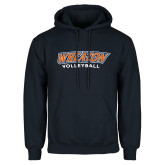 Navy Fleece Hoodie-Wheaton Volleyball
