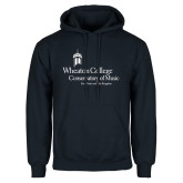 Navy Fleece Hoodie-Conservatory of Music