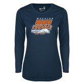 Ladies Syntrel Performance Navy Longsleeve Shirt-Primary Athletics Mark