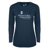 Ladies Syntrel Performance Navy Longsleeve Shirt-Graduate School