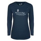Ladies Syntrel Performance Navy Longsleeve Shirt-Conservatory of Music