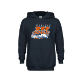 Youth Navy Fleece Hoodie-Primary Athletics Mark