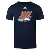 Adidas Navy Logo T Shirt-Primary Athletics Mark