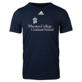 Adidas Navy Logo T Shirt-Graduate School