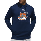 Adidas Navy Team Issue Hoodie-Primary Athletics Mark