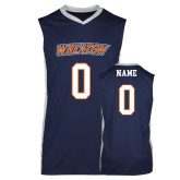 Replica Navy Adult Basketball Jersey-Thunder Wordmark
