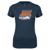 Ladies Syntrel Performance Navy Tee-Primary Athletics Mark