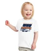 Toddler White T Shirt-Primary Athletics Mark