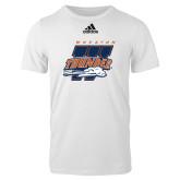 Adidas White Logo T Shirt-Primary Athletics Mark