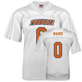 Replica White Adult Football Jersey-Thunder Wordmark