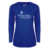 Ladies Syntrel Performance Royal Longsleeve Shirt-Graduate School