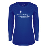 Ladies Syntrel Performance Royal Longsleeve Shirt-Conservatory of Music